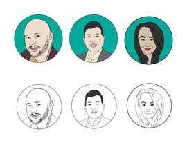 #32 para Sketches of head shots for website por HohoDesign