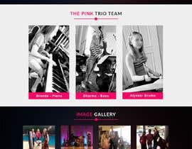 bappa85 tarafından Update young female jazz band website (pinktrio.com) to look more professional için no 27
