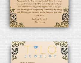 #36 untuk Tilo Jewelry 4x6 flyer oleh shah14940