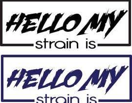 "nº 4 pour Designer a ""hello my strain name is"" sticker par asmafa247"