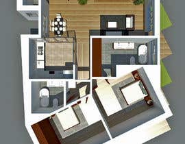#12 для Interior design and floor plan for city apartment от ssquaredesign