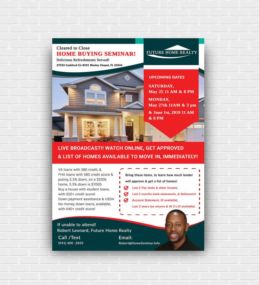 Proposition n°10 du concours build a flyer for upcoming home buyers seminar