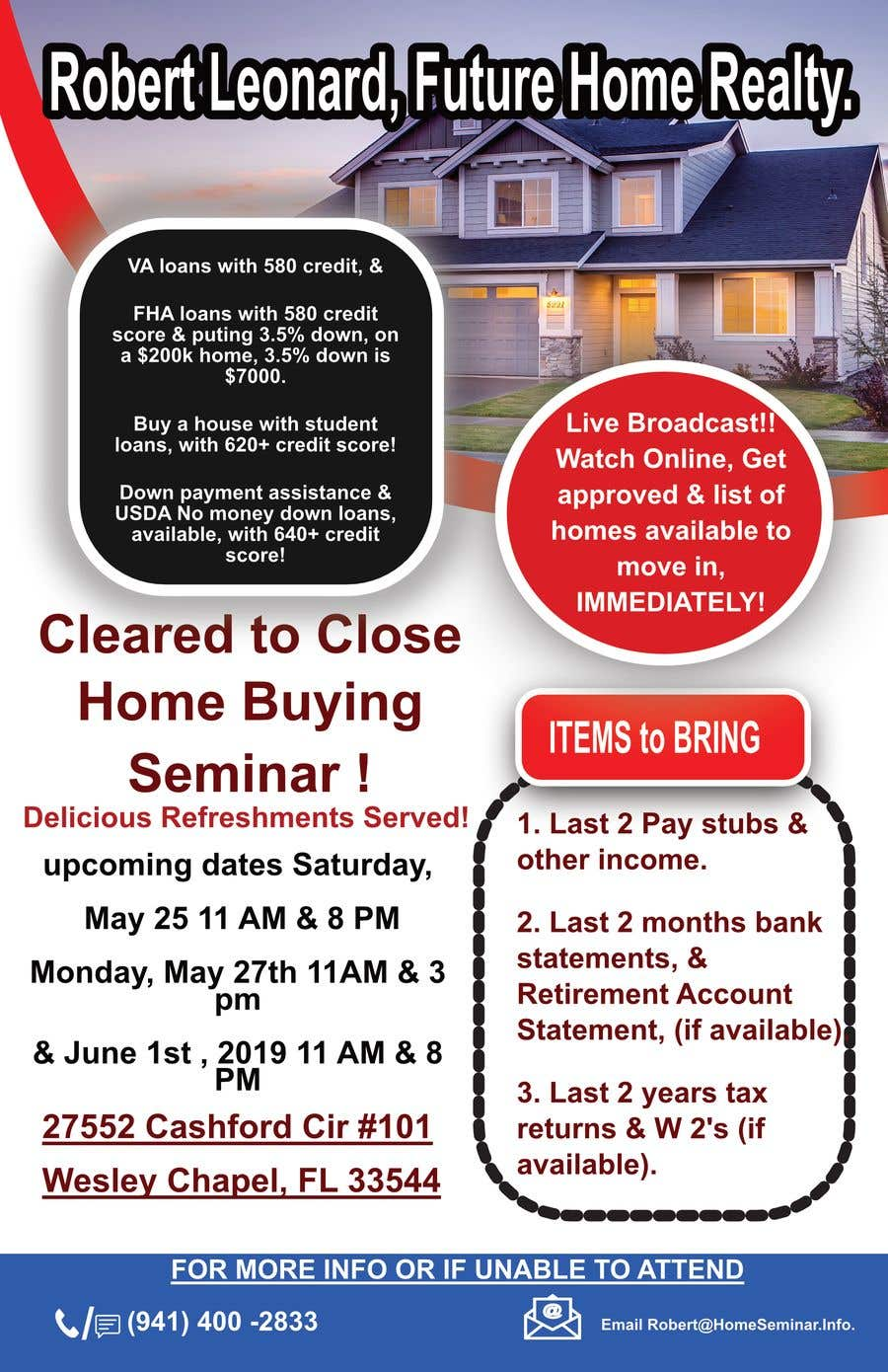 Proposition n°5 du concours build a flyer for upcoming home buyers seminar