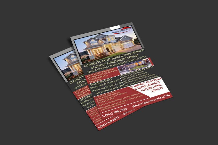Proposition n°25 du concours build a flyer for upcoming home buyers seminar