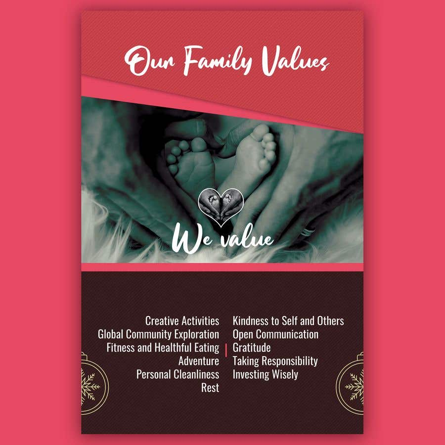 Contest Entry #40 for Family Values Poster