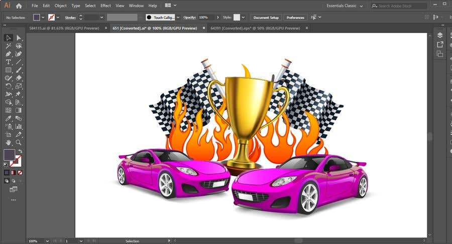 Contest Entry #11 for Make a Watercolor Race Car design in Vector file