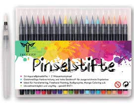 sunnycom tarafından Create a package Front Label for a PP hard plastic packaging of a watercolor brush set için no 32