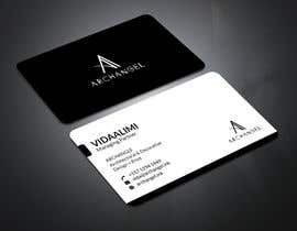 #33 for Redesign business cards in modern, clean look in black & white or gold & white af mrsmhit835
