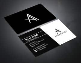 #39 for Redesign business cards in modern, clean look in black & white or gold & white af mrsmhit835