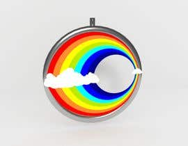 #27 untuk Stainless Steel Jewelry Designs - Rainbow / Clouds Oil Diffuser Locket oleh Christek