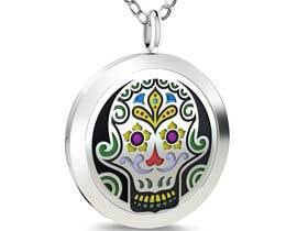 tranan8485 tarafından Stainless Steel Jewelry Designs - Sugar Skull Oil Diffuser Locket için no 12