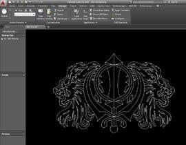 #7 untuk CAD Drawing of modified Sikh Khanda oleh SriniEngg