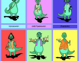 #20 cho 6 Different Cartooned Puny Versions of the same base Dinosaur w/ Names bởi dasbis777