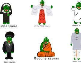 #13 cho 6 Different Cartooned Puny Versions of the same base Dinosaur w/ Names bởi DavidShenron