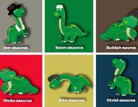 #10 cho 6 Different Cartooned Puny Versions of the same base Dinosaur w/ Names bởi baigmyasrab