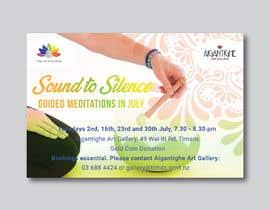 Nro 42 kilpailuun Poster for series of meditation classes in an art gallery käyttäjältä MOMODart