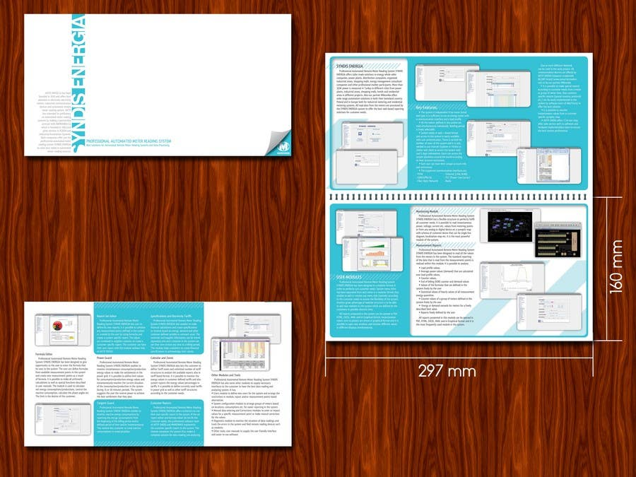 Contest Entry #                                        6                                      for                                         Brochure Design for Telemetry System Software