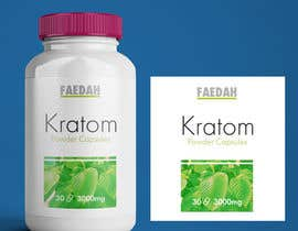 costin55 tarafından Design clean modern packaging for Kratom supplement bottle için no 36