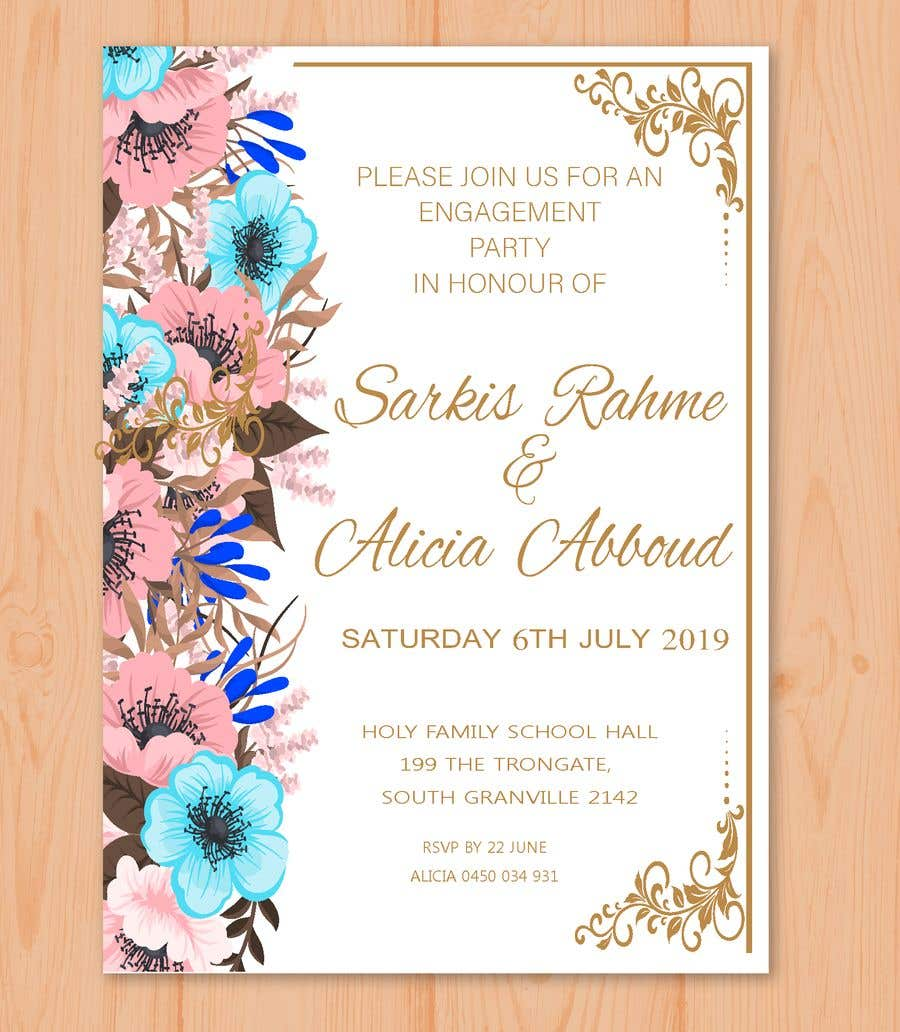 Entry 12 By Ashswa For Engagement Invitation Letter 30 05