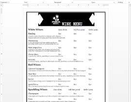 #5 for Wine List template ASAP by Yehlyn