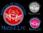 Graphic Design Contest Entry #6 for T-shirt Design for Muzzle Life - Featuring two Buck Deer's in Battle!