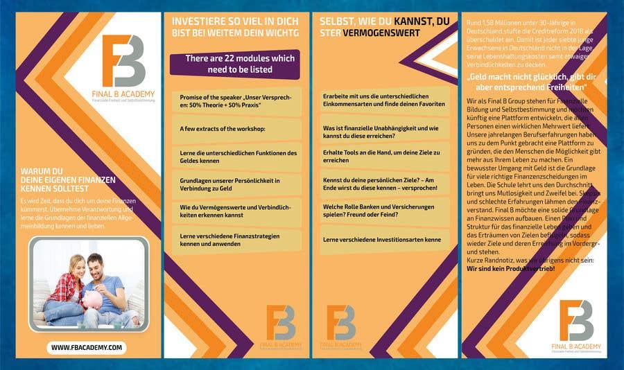 Proposition n°13 du concours DIN long Flyer for Finance Workshops