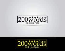#43 untuk Design a Logo for 200words.ae oleh unumgrafix