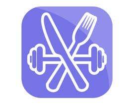 nº 31 pour Create an app icon for a nutrition and workouts app. par polkurakina