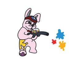 #7 for Vector Graphic: Bunny playing paintball af NitinA32