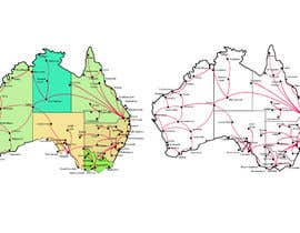 #7 for URGENT! Create a map of Australia showing company reach by Sultana76