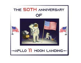 #13 for Logo for 50th anniversary of moon landing by shompa28