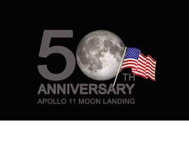 #19 for Logo for 50th anniversary of moon landing by RaufIndoImage