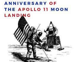 #10 for Logo for 50th anniversary of moon landing by rafieyrahimi2006