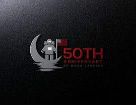 #8 for Logo for 50th anniversary of moon landing by sojebhossen01