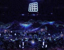 #8 for Sketch of 3d grid landscape with field of data af udzi