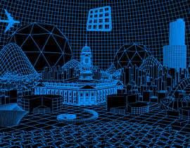 #15 for Sketch of 3d grid landscape with field of data af mrsi