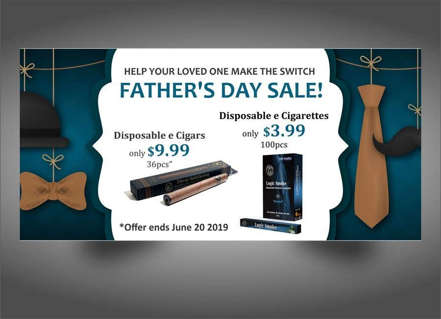 Kilpailutyö #39 kilpailussa Father's Day Sale Banner