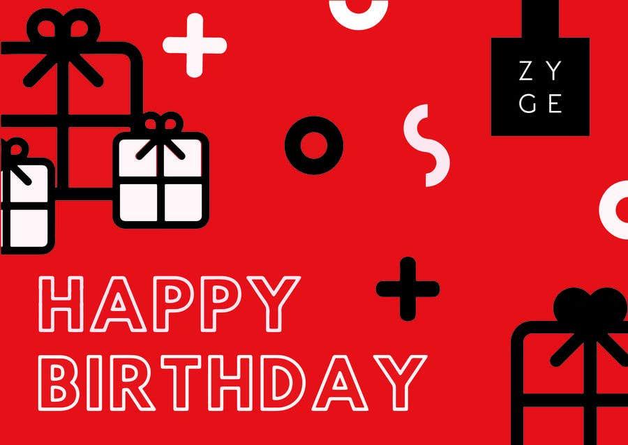 Penyertaan Peraduan #74 untuk Corporate Birthday card & Happy  New Year