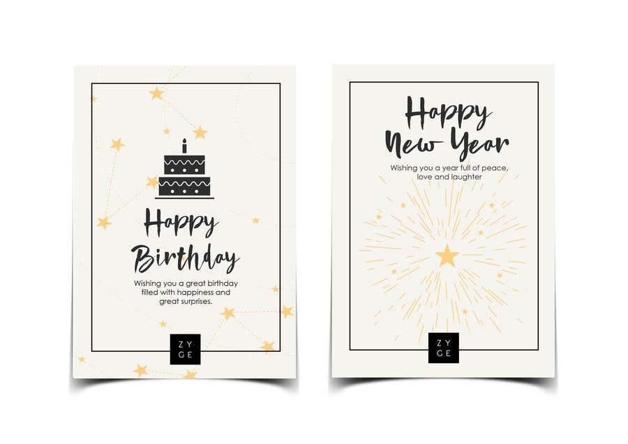 Penyertaan Peraduan #124 untuk Corporate Birthday card & Happy  New Year