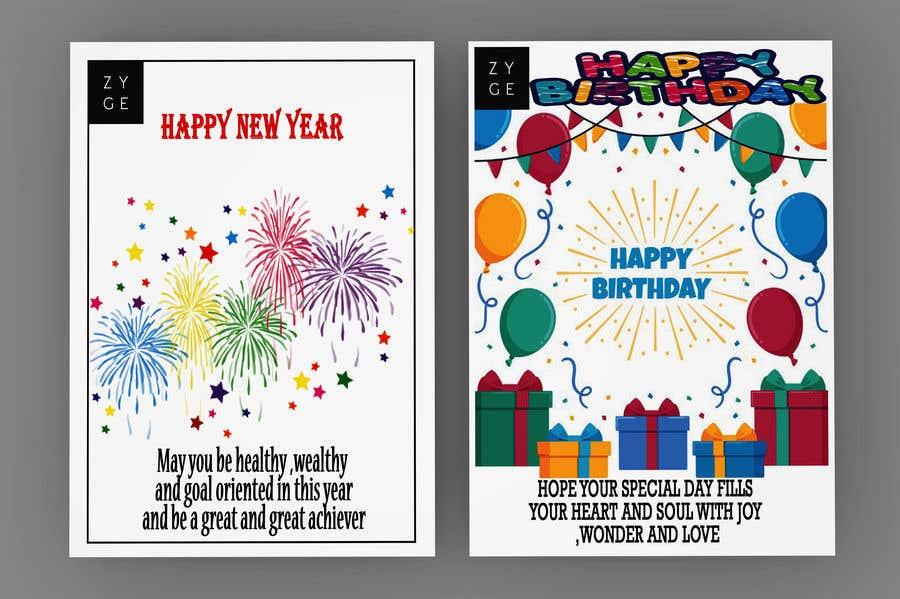 Penyertaan Peraduan #112 untuk Corporate Birthday card & Happy  New Year