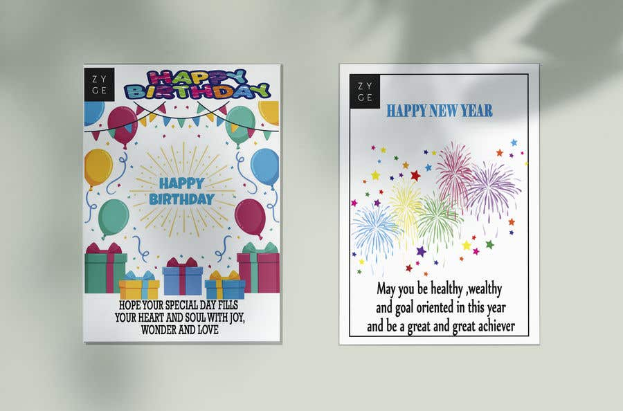 Contest Entry #118 for Corporate Birthday card & Happy  New Year