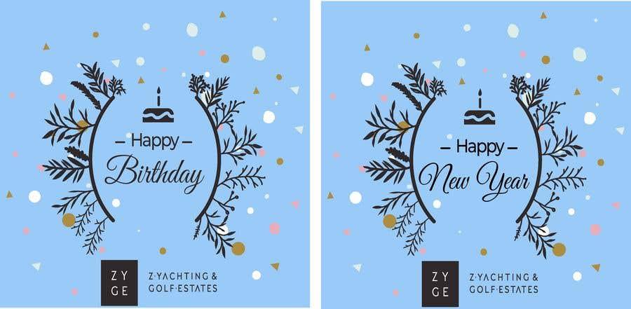 Penyertaan Peraduan #23 untuk Corporate Birthday card & Happy  New Year