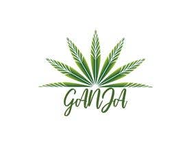 """Nro 19 kilpailuun Create a novel weed themed cover image: Draw/create a novel marijuana themed image, which incorporates the word """"Ganja"""" käyttäjältä imrovicz55"""