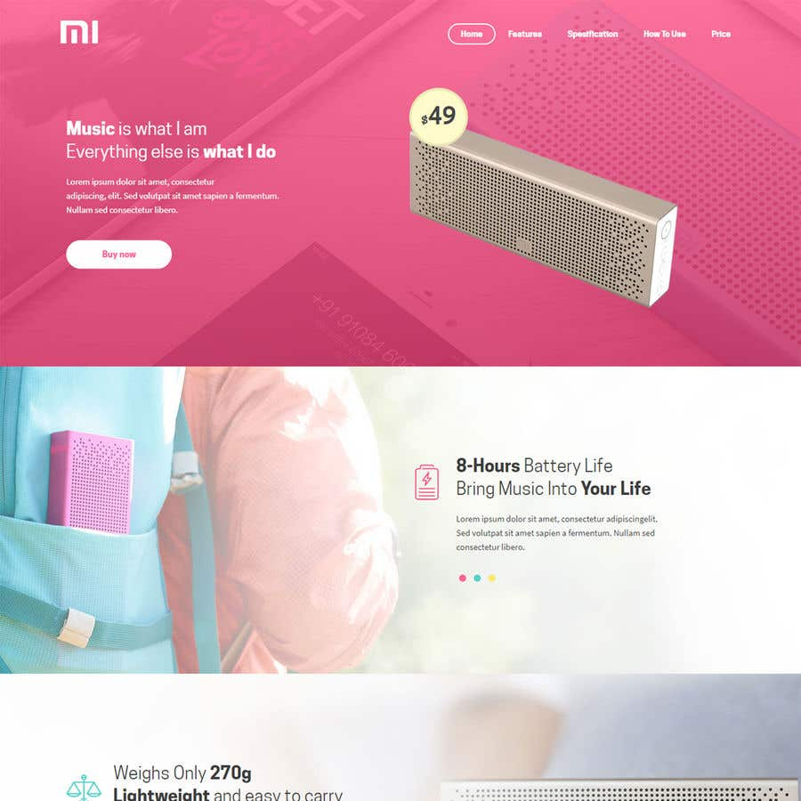 Proposition n°6 du concours Rental and booking landing shop page design + service offering 1 pager