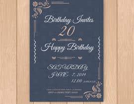 Nro 9 kilpailuun Birthday Invites käyttäjältä uzel