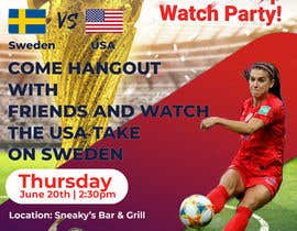 #25 para URGENT Need Flyer Created for World Cup viewing Party por firozreza153