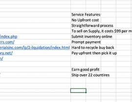 #8 for I'm looking for someone that do some web search for me about liquidate excess inventory service by Jiaqi515