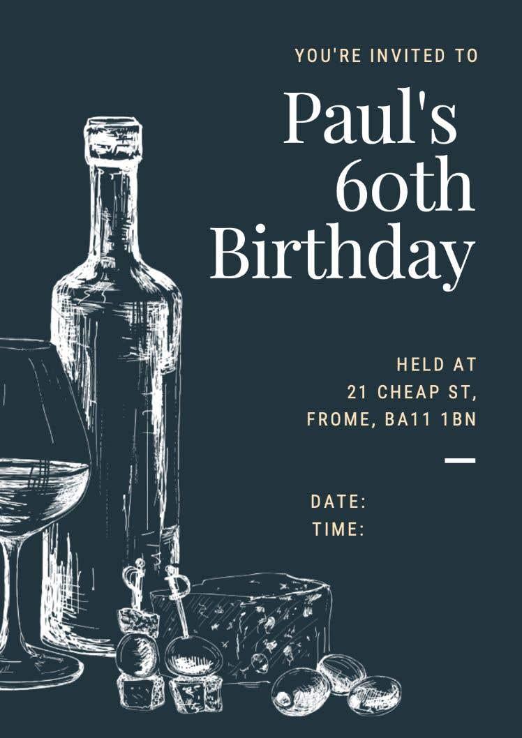 Kilpailutyö #13 kilpailussa Invitation Template for Birthday Party
