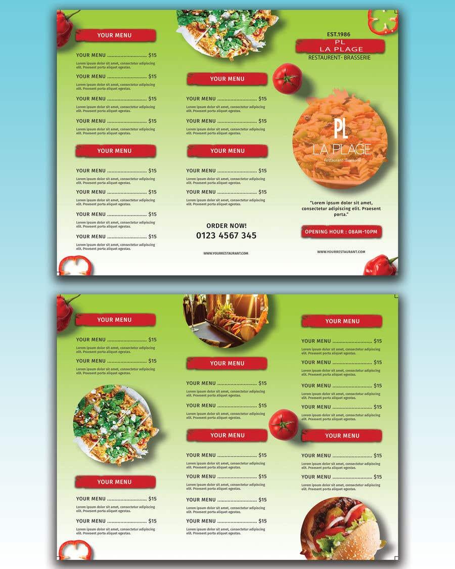 Penyertaan Peraduan #1 untuk flyer for restaurant