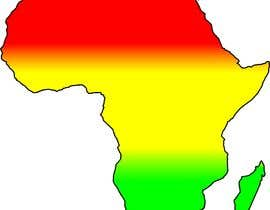 nº 7 pour A high quality Logo of Africa containing the colours red,gold and green par parttimechon